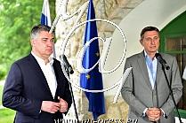 Zoran MILANOVIC -predsednik Hrvaske-, Borut PAHOR -predsednik Slovenije-