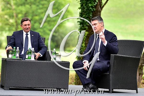 Borut PAHOR -predsednik Slovenije, Zoran MILANOVIC -predsednik Hrvaske