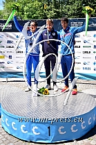 1. Roberto COLAZINGARI ITA, 2. Anze BERCIC SLO, 3. Alexander SLAFKOVSKY SVK