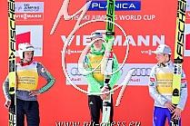 Ski Flying 2015/2016: 1. Peter PREVC SLO, 2. Robert KRANJEC SLO, 3. Johann Andre FORFANG NOR