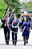 Borut PAHOR -predsednik Slovenije-, Stevo PENDAROVSKI -predsednik S. Makedonije-, Vjosa OSMANI-SADRIU -predsednica Kosova-