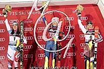 1. Mikaela SHIFFRIN USA, 2. Wendy HOLDENER SUI, 3. Mikaela SHIFFRIN USA