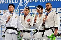 -100kg 1.Reyes CAN, 2.Kim KOR, 3.Nikforov BEL, 3.Ogawa JPN