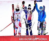 Michelle GISIN -SUI Svica-, Marta BASSINO -ITA Italija-, Meta HROVAT -SLO Slovenija-