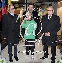 Roman BRUNSEK - ravnatelj, Ivan JORDAN - Zupan Skofljice, Borut PAHOR - predsednik Slovenije