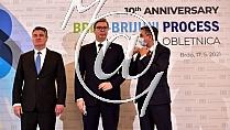 Zoran MILANOVIC -predsednik Hrvaske-, Aleksandar VUCIC -predsednik Srbije-, Borut PAHOR -predsednik Slovenije-