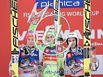 1. Peter PREVC SLO, 2. Johann Andre FORFANG NOR, 3. Robert KRANJEC SLO