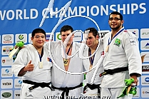 +100kg 1.Krivobokov RUS, 2.Ulziibayar MGL, 3.Matiashvili GEO, 4.Silva BRA