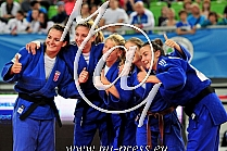 3. Women Junior team Croatia Beata GUSZAK, Tena SIKIC, Maja BLAGOJEVIC, Barbara MATIC, Brigita MATIC