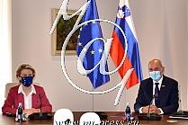 Janez JANSA -predsednik Vlade Slovenije-, Ursula von der LEYEN -Predsednica Evropske komisije-