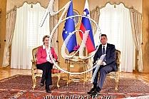 Ursula von der LEYEN -Predsednica Evropske komisije-, Borut PAHOR -predsednik Slovenije-
