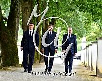 Zoran MILANOVIC -predsednik Hrvaske, Borut PAHOR -predsednik Slovenije, Alexander van der BALLEN -Predsednik Avstrije-