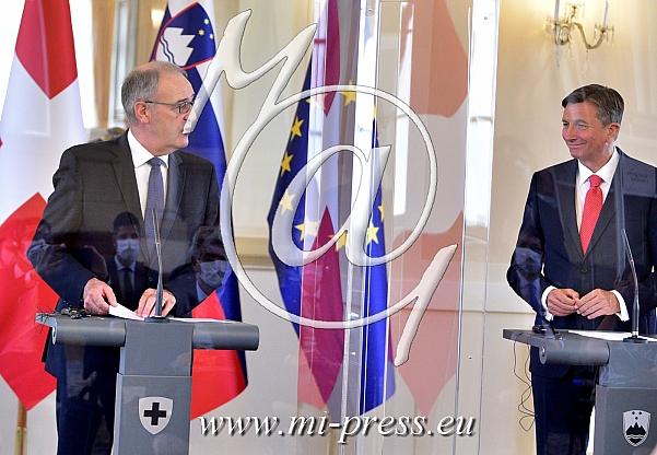 Guy PARMELIN -predsednik Svice-, Borut PAHOR -predsednik Slovenije-