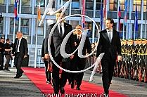 Andrej PLENKOVIC -Predsednik vlade Hrvaske-, Viktor ORBAN -Predsednik vlade Madzarske-, Sebastian KURZ -avstrijski kancelar-