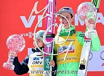Overall 2015/2016: Sara TAKANASHI JPN, Peter PREVC SLO