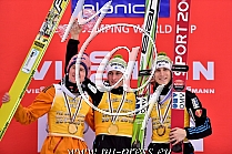 Flying 2014/15: 1. PREVC Peter SLO, 2. FREUND Severin GER, 3. TEPES Jurij SLO