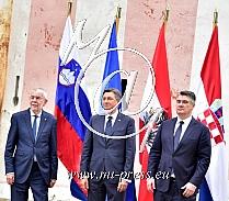 Alexander van der BALLEN -Predsednik Avstrije-, Borut PAHOR -predsednik Slovenije, Zoran MILANOVIC -predsednik Hrvaske